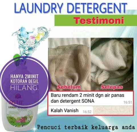 testimoni Sona Laundry Detergent 9